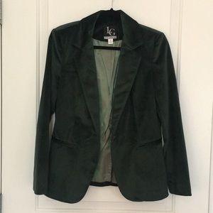 Emerald Green velvet blazer size 6